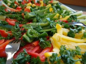Gemüse zum Dippen