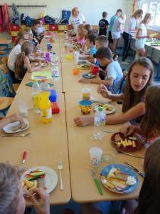 das gemeinsame Mittagessen als krönender Abschluss des Gesundheitstages
